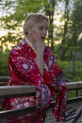 On The Bridge (gxle) Tags: blue red portrait canon helsinki eyes blonde yukata sakura kimono hanami puisto puutarha 2016 roihuvuori 600d kirsikka japanilainen kirsikkapuisto rebelt3i 2k16