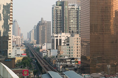 Sukhumvit road outbound (KumaYami) Tags: road tower station buildings out metro bangkok rail railway system line transit service mass heavy skytrain rapid bts sukhumvit outbound