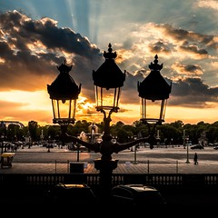 Colored Exception (LoKee Photo) Tags: light sunset paris silhouette fuji cloudy concorde lokee x100s