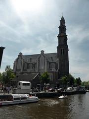 amsterdam_12_027 (OurTravelPics.com) Tags: church amsterdam boats canal prinsengracht westerkerk