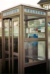 Phone box in Bled (Enrico Carpi) Tags: old city lake water lines 50mm photo phone kodak cabina slovenia 200 bled telefon 36 past telefonica analogic boc f19 colorplus