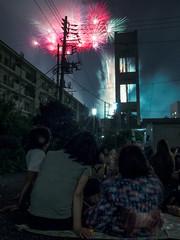 Fireworks  ((Kasarinchu)) Tags: street japan tokyo town fireworks snap