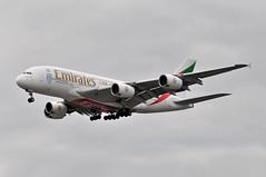 EK0003 DXB-LHR (A380spotter) Tags: approach landing finals shortfinals threshold airbus a380 800 msn0030 a6edk 38m longrangeconfiguration 14f76j427y  emiratesairline uae ek ek0003 dxblhr runway27r 27r london heathrow egll lhr