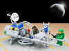 Surface Skimmer Tune Up (billyburg) Tags: lego lunar exploration geological outpost update surface skimmer tune up robot spannering little green man spaceman astronaut space earth moon star wars speeder bike