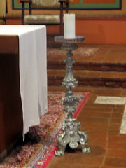 Candlestick Beside Communion Table in Church (Autistic Reality) Tags: california ca usa building church architecture america buildings us sandiego basilica structures churches landmarks landmark structure socal mission southerncalifornia juniperoserra catholicism missions sandiegocounty historiclandmark nationalhistoriclandmark romancatholicism stateofcalifornia minorbasilica sandiegodealcalá basilicas cityofsandiego historiclandmarks nationalhistoriclandmarks missionbasilica missionbasilicasandiegodealcalá sandiegomissionchurch dioceseofsandiego stdidacus saintjuníperoserra minorbasilicas didacusofalcalá frjosebernardosanchez juníperoserrayferrer juníperoserrayferrerofm saintjuníperoserraofm