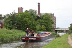 'Ambush' Burscough 2nd July 2016 (John Eyres) Tags: leeds liverpool longboat ambush built 1933 fuel run taken approaching burscough 020616 canal ainscough mill