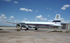 N4887C at Coolidge USA 2016 (chrysanyo) Tags: usa coolidge dc7