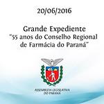 Grande Expediente - 55 anos do Conselho Regional de F�rm�cia do Paran� 20/06/2016