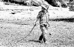 The peaceful beach (KaseyEriksen) Tags: boy beach ink canon photo drawing son grandson wyatt