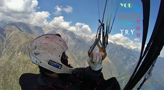 Paragliding (curious.eagle) Tags: paragliding flying sky clouds outdoors adventure sport epsilon himachal india pilots birdseyeview thrill amazing himalaya dhauladhar kangra beauty nature green trees valley river snow mountain air earth pure