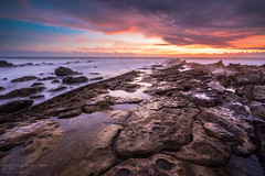 Sawarna Rocky Beach (FarhanFaizIshak) Tags: indonesia sawarna karang taraje bayah 2016 sunset rock color beach sony a7r banten
