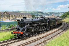 Riddles Power (4486Merlin) Tags: england europe unitedkingdom transport steam railways westyorkshire gbr keighley keighleyworthvalleyrailway heritagerailways 75078 exbr brstd4mt460 vintagetrainevent
