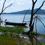 A Boat, Lake, and a Mountain thumbnail