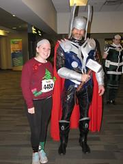 Jingle Bell Run 2014 023 (foodbyfax) Tags: cosplay rogue thor heroesallianceohio jinglebellrun2014