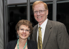 Board member Steve Hamilton with his wife, Wendy