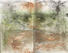 pozo con lluvia (jc_figuera) Tags: naturaleza sketch lluvia drawing venezuela paisaje gran acuarela watercolors dibujo sabana pozo boceto pauji