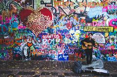 / lennonwall / prague / (aubreyrose) Tags: travel musician streetart art graffiti europe peace prague guitar streetphotography czechrepublic busker johnlennon thebeatles lennonwall 2014 twittertuesday