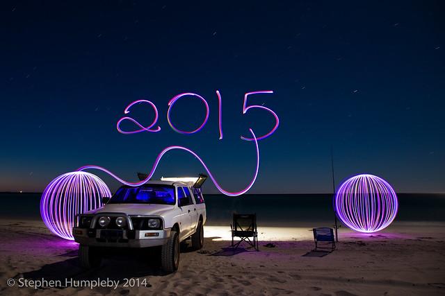longexposure light lightpainting beach night canon painting stars fishing long exposure newyear orbs mitsubishi triton 6d 2014 2015 24105f4 ©stephenhumpleby2015