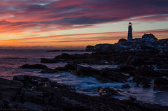 chilled sunrise (explore) (paul noble photography) Tags: winter seascape ice sunrise coast maine explore portlandheadlight fortwilliams capeelizabethmaine paulnoble oceancoastal nikond7000 nikon35mm18f paulnobleimages