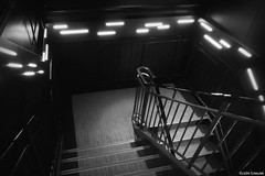 stairs (it05h1) Tags: light blackandwhite bw white black monochrome japan stairs lights tokyo stair steps monotone stairway staircase tokyotower minatoku lighted it05h1
