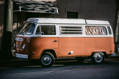 Westfalia (Guillermo Murcia) Tags: orange sunlight newyork brooklyn volkswagen wagon camper westfalia wagen guillermomurcia