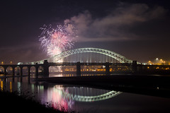 Colours (Stephen Whittaker) Tags: bridge sky colour reflection fun nikon fireworks smoke runcorn widnes halton d5100