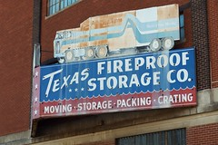Fireproof Storage (dangr.dave) Tags: architecture moving downtown neon texas waco g tx historic neonsign atlasvanlines movingvan storagevan fireproffstorage texasfireproof packingcrating