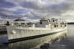 The Potomac Berthed (LifeLover4) Tags: ship yacht potomac oakland ferry terminal dock reflections stickneydesign lifelover4 estuary portofoakland hughstickney