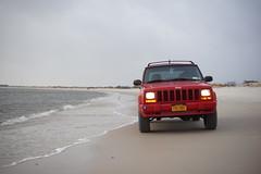 Jeep Cherokee at Sore Thumb (AKA_Auto) Tags: new york winter beach sport island long jeep offroad thumb cherokee hofstra sore