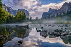 Valley View (danielgaudardazevedo) Tags: autumn light cliff cloud mist reflection tree nature rock fog clouds river landscape landscapes nikon rocks view valley yosemite norcal elcapitan nationalparks mercedriver bridalveilfall digitalblend yosemitenp 500px gatesofthevalley d7000 nikond7000 ifttt