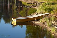 Boat (marius_lehr) Tags: lake reflection water grass boot see boat pond wasser waterfront gras ufer teich spiegelung rudder ruder