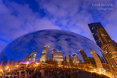 Cloud Gate, Chicago at Dusk [2062] (cl.lin) Tags: chicago skyline night nikon cityscape dusk bean millenniumpark michiganavenue cloudgate magnificentmile d610