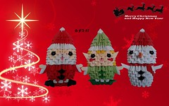 Santa Claus, Elf and Snowman Origami 3d (Samuel Sfa87) Tags: santa christmas xmas natal paper elfs snowman origami arte handmade crafts craft noel elf sfa claus natale carta babbo artisan papai papercraft christma nicolaus arteempapel origami3d sfaorigami sfa87 arteconlacarta