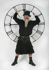 Father Time  ...  Happy New Year (Cowboy Tommy) Tags: black hot sexy clock sex beard utilikilt kilt boots manly tophat midnight rugged scruffy 2015 beardporn
