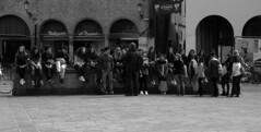 Una Gita Scolastica (r_evolution63) Tags: blackandwhite bw italy boys students monochrome grey monocromo blackwhite europa europe italia grigio place sony bn lesson piazza duomo gita bianconero biancoenero outing padova lezione padua schooltrip studenti ragazzi veneto piazzaduomo piazzadelduomo dscw7 gitascolastica provinciadipadova