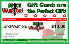 Holiday Gift Guide From A-Z: Y is for Yuletide Cheer with Gift Cards (MandaBW) Tags: christmas holiday toys lego certificate card gift presents accessories guide brickwarriors