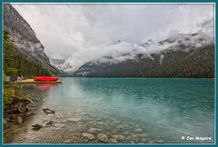Lake Louise and Boats 3681 (maguire33@verizon.net) Tags: canada alberta banff lakelouise canadianrockies victoriaglacier
