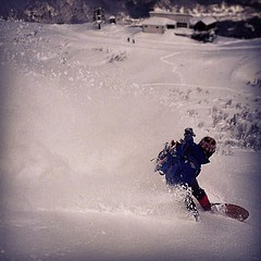 First day #powder #surfing #hakuba #雪板