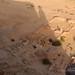 The shadow of Jebel Barkal and the temple