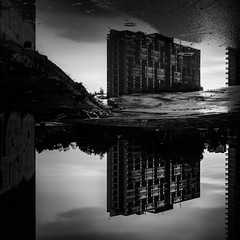 clear.to.the.end (jonathancastellino) Tags: toronto abstract reflection project square ruins upsidedown destruction empty ruin overcast demolition vacant projects neighbourhood regentpark