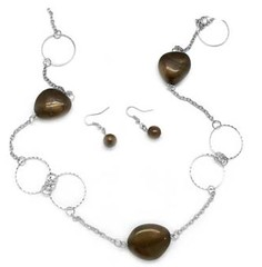 5th Avenue Brown Necklace P2320A-2