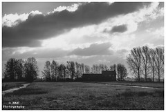 Project 365 11/365 (Nils5481) Tags: bw white house storm holland netherlands countryside farm nederland stormy balck huis polder zwart wit boerderij zuidholland meije