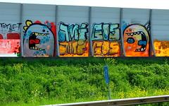 Graffiti A20 - Amigos (oerendhard1) Tags: street urban amigos art graffiti rotterdam ominous vandalism a20 omin narcoze