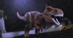 Danger - 10000 Volts (hachiroku24) Tags: park ford film movie escape lego dinosaur explorer scene rex jurassic trex 90s