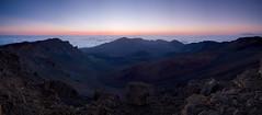 Haleakala sunrise (hartvigs) Tags: panorama sunrise landscape volcano hawaii unitedstates haleakala nationalparks landscapephotography hawaiilandscape fujix100s x100s