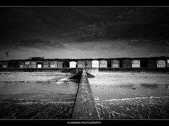 I (Kevin HARWIN) Tags: uk sea england man male beach water canon person eos bay kent sand waves all britain south east huts minnis 70d birchingtononsea