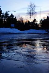 Ice in forming (Jouni_Ikonen) Tags: sunset ice water photography lahti