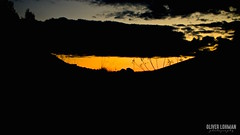 the border (oliver_max_axel) Tags: blue sunset sky orange cloud outdoor border ground