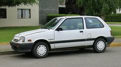 1985-88 Suzuki Forsa (Custom_Cab) Tags: door white 3 canada chevrolet car metro 1987 1988 canadian swift suzuki 1986 sprint 1985 hatchback cultus forsa 3door