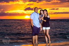 young family maui beach portrait at sunset (brandon.vincent) Tags: family sunset red portrait baby love beach canon hawaii mark bees iii alien maui 5d session lahaina